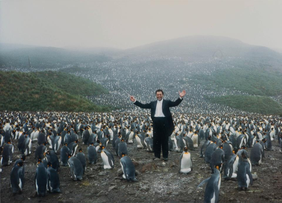 It's World Penguin Day! We're happy to say that we've always had a particular appreciation for the little guys who share our sartorial bent, as evidenced by former Music Director Zubin Mehta in Antarctica. After all, our Orchestra softball team is the Philharmonic Penguins.  How are you celebrating?