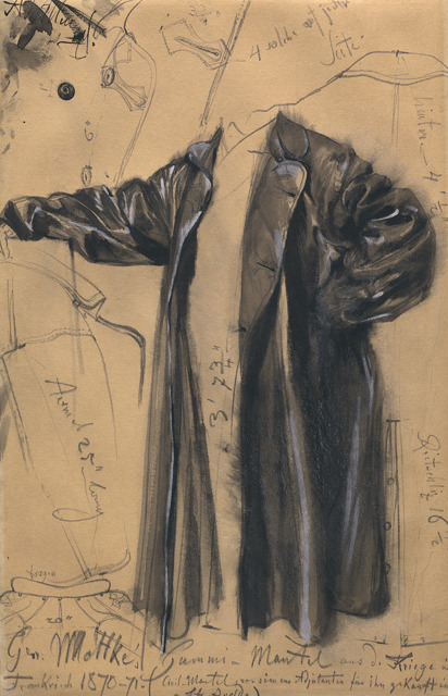 Study by Adolph Menzel of General Moltke's coat, 1871.