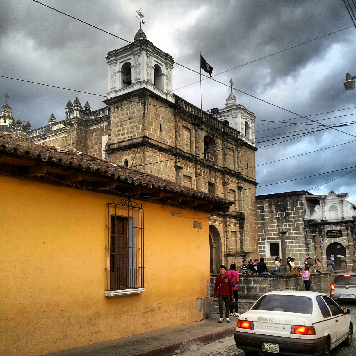 A picture of an old church in Antigua, Guatemala I took