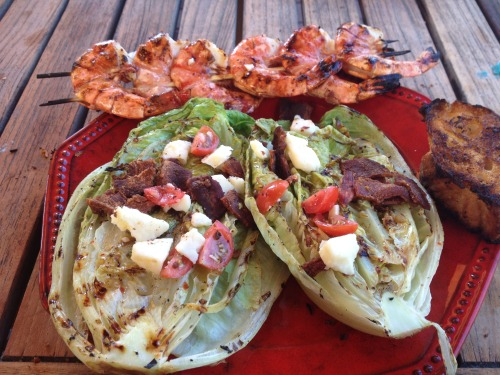 Grilled BLT Salad with Shrimp