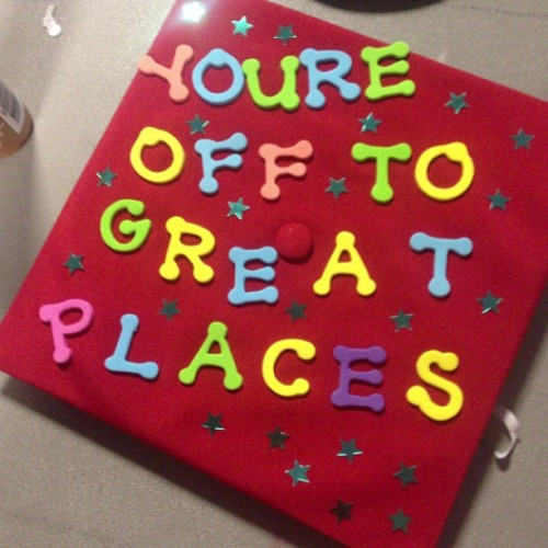 #graduation #cap #drseuss #growingup #classof2013 #RAprogram #excited (at West Commons)