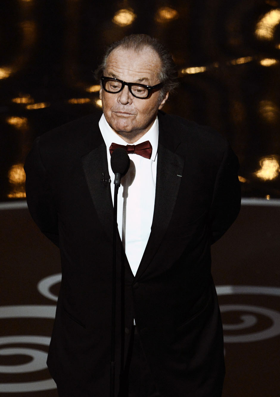 nparts:  Jack Nicholson onstage for the Best Picture award. (Photo by Kevin Winter/Getty Images) More: http://natpo.st/XzvSrs
