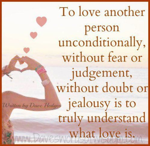 Unconditional love ..