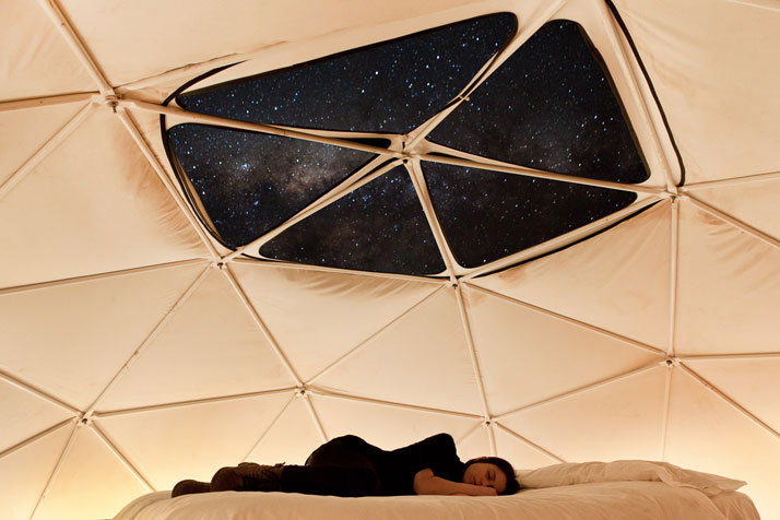 Stargazing At The Elqui Domos Hotel In Chile | Designed by RDM Arquitectura | Photos by James Florio In the heart of the mythical Elqui Valley in Pisco, surrounded by the Andes Mountains, 500km north of Santiago in central Chile, lies a magical place that allows for star-spangled dreams beneath the clear pure sky. Combining stargazing and specialized astronomic tours with night-time horseback riding, meditation and even tarot readings, Elqui Domos is a hotel quite like no other. It was completed in 2005 to fulfil its owners' desire to observe and enjoy the grandeur of the one of the world's most star-filled skies. It is one of only seven astronomic hotels around the world and the only one in the Southern Hemisphere, offering breathtaking views of the magic skies draped over the Elqui Valley (the valley is renowned for its sharp, clear skies, as it happens to sit under one of the clearest atmospheres in the world). The lack of rain and pleasant weather all year round set the perfect conditions for astronomic tourism, where guests can gather to enjoy a unique chance to liaise with the stars. (via Yatzer)