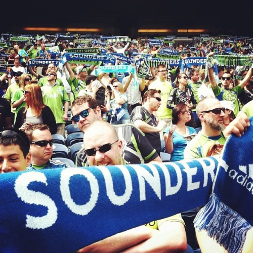 Great day at Century Link Field! Sounders pulled out the win and Seattle showed they are great soccer fans. #roadtrippin #lifeisgood @soundersfc (at CenturyLink Field)