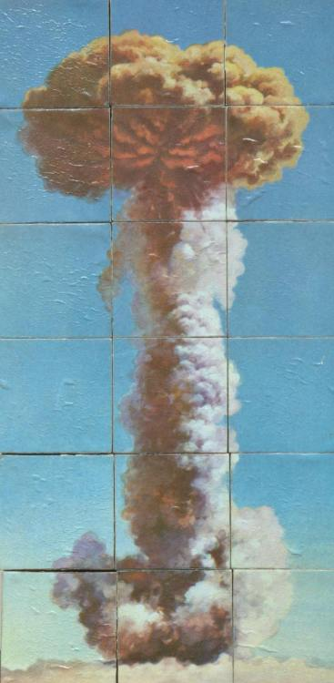 Children's puzzle of the successful explosion of the first nuclear bomb in China.  China exploded its first atom bomb at 15:00 hour on October 16, 1964.  Source: Thomas Fisher Rare Book Library, University of Toronto/flickr
