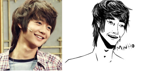 probably spent too much time on this but oh well. tried to draw Minho as a warm up to work on my dissertation stuff.