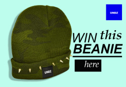 Win this camo beanie with studs No shit, simply register… HERE