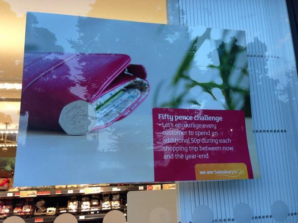 That awkward moment when a Sainsbury's employee puts up an internal poster for all the world to see.