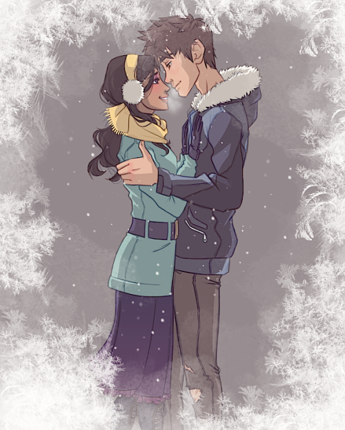 m-azing:  nightlight-vixen:  Human!Frostbite - Modernized—————————————I can't write fanfiction for crap but I can make shit up when I draw, so here's how they came to be…Jack's a bright guy, but a college dropout who's an avid snowboarder and wants nothing more than to just get by doing what he loves. He excels in winter sports, he practically lives in the snow. He's a part time snowboard instructor for kids, and also a zamboni driver every now and then.Toothiana's studying dentistry and is excelling in her studies. She works part time at a daycare and she loves and is very talented at kickboxing. Despite her appearance she's not one to trifle with. She and Jack met while he was cleaning the ice rink at her school, and she had just left the school gym after a kickboxing session, and they were both making their way down the same corridor and she ran into him while dancing to the music on her ipod, and accidently elbowed him in the mouth. Her first impression of him was that he had beautiful teeth.. y'know.. once she wiped the blood off. …So how bad does that sound? XD   me when I saw this picture