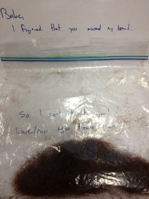 Creepy Dude Sends Ex-Girlfriend His Beard Hair True love knows no bounds. Except restraining orders.