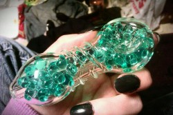 hippierev0luti0n:  fivefootfuck: This pipe has gel beads on the inside. You keep it in the fridge, then when you smoke, they cool the smoke to make it smoother and easier to breathe. And, its cute as Fuck. So pleased with my purchase today. :)