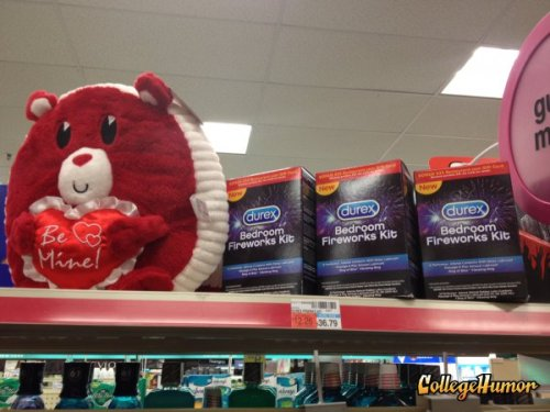 Rough Love - Seems legit? Condoms in the Valentine's section at CVS. They get it.