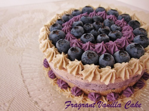 Raw Blueberry Almond Lavender Cake by Fragrant Vanilla Cake