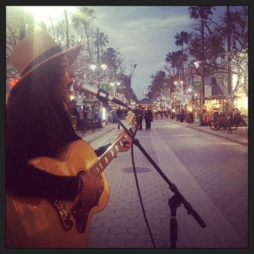 Beautiful Cali night! #busking @leahkingstagram #music