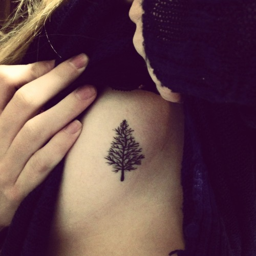 This little pine tree is my first and (so far) only tattoo. It was done by the very funny and friendly Terence at No Regrets in Tallahassee, Fl. I grew up in Wisconsin and this little blue spruce is a symbol of that. blue-spruce.tumblr.com