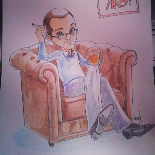 Yesterday was the birthday of my boyfriend… A small caricature for the occassion :)
