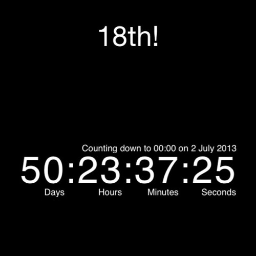 Woop woop! Only 50 days left! #birthday #countdown #18th #finally #cantwait #excited #becominglegal #party #drinking #drunk #igdaily
