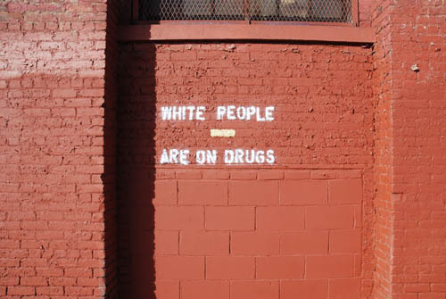 nevver:  On drugs  SMH White People!
