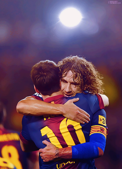 barcelonashow:  Lionel Messi and Carles Puyol! Two Legends of Barça!