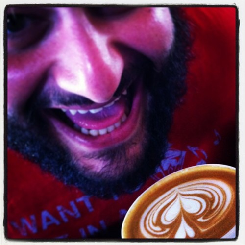 #Coffee can get a little hairy when the @eatsieboys are around. #LatteArt #RoastersCanPour