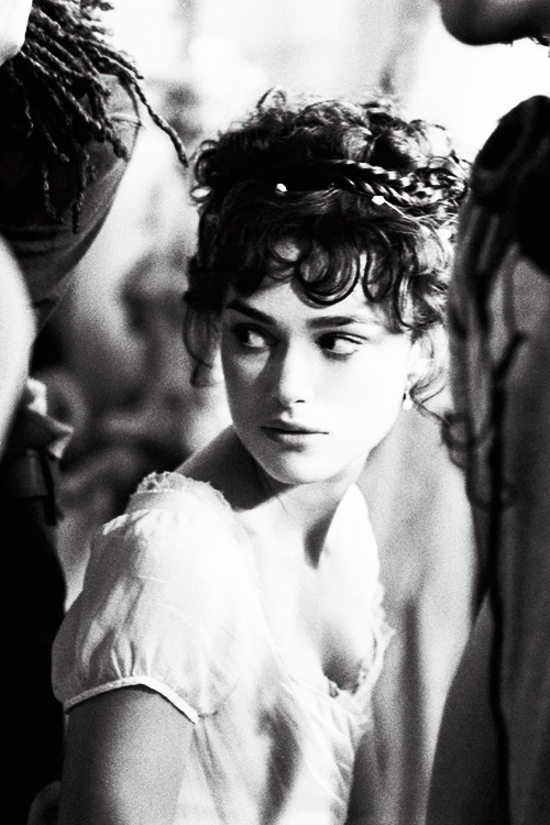 Keira Knightley on the set of Pride & Prejudice (2005)