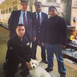 "TRANSIT WORKERS STOP TRAIN TO SAVE DOG - ""But instead of ignoring the plight of yet another stray dog, they stopped the train, got out and rescued him."" An American Eskimo dog named Sparky somehow escaped from his elderly owner and was wandering around on train tracks in New Jersey. Transit workers saw Sparky, stopped the train, and rescued him. Fortunately Sparky has been safely returned home. Read more from ABC News:  Sparky's adventure began when he accidentally got out of his house in Garfield and ran away. Lost and confused, a collar-less Sparky made his way to the Garfield train station, wandering the tracks during rush hour. That's when the crew on train 1254 heading to Hoboken saw him cowering. But instead of ignoring the plight of yet another stray dog, they stopped the train, got out and rescued him. They then took Sparky on the train and brought him to Hoboken. ""I met the train when it came into Hoboken Depot,"" said NJ Senior Train Master Sean Kushnir. ""I secured the dog. Immediately the dog was a big hit, all the passengers were waiting with their cell phones taking pictures.""  Sounds like Sparky was rescued by a great group of guys. Click here for the full story and a news video. (Photo from NJ Transit Facebook page)"