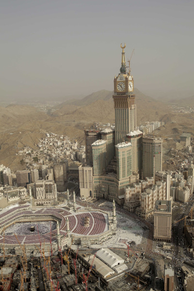 vitrinite:  Abraj Al Bait Towers - Mecca, Saudi Arabi. Unknown photographer.