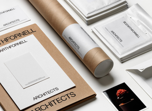 Identity for Bozarthfornell Architects by Daniel Carlsten