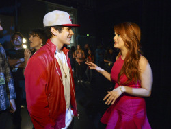 radiodisney:  Backstage of the RDMAs with Austin Mahone and Debby Ryan