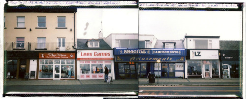 roberteaton:  *Test* Fuji Instax 200 panorama of Morecambe, defiantly going to do a longer one of these, and a more accurate one      this is sick rob!!!