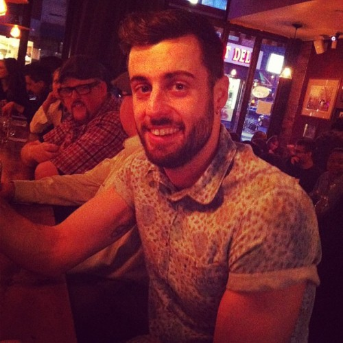 Dinner at The Meatball Shop with this handsome lad tonight! @kmazing84 🍝❤ #nyc #newyork #manhattan #les #food #infoodwetrust #meatballs #muscles #dinner #guy #handsome #beard #scruff #topman #drinks #spring  (at The Meatball Shop)