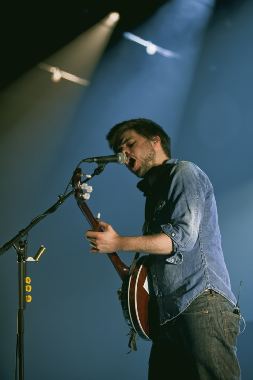 Winston Marshall of Mumford & Sons performs at the Zenith in Munich, Germany on 11th March, 2013. Photo © Andre Habermann.