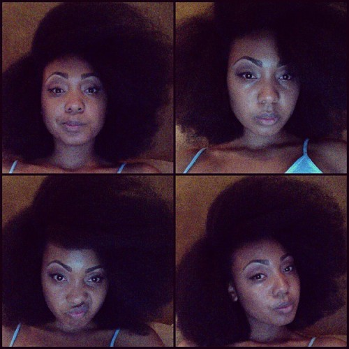 I love the fro :) My favorite style for natural hair! #naturalhair #mynaturalsistas #naturalhairsistas #afro #bighairdontcare
