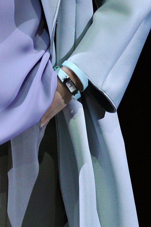 Subtle pastel shades from the #Emporio @Armani collection #MFW