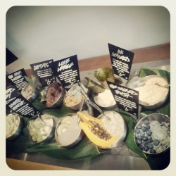 I love making our fresh bar look super pretty! #lushcosmetics #lush #lushrobson