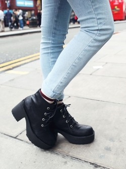 Shop these funky biker boots at https://marketplace.asos.com/seller/alisonsman/collection