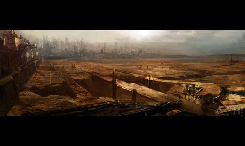 Outskirts of MegaCity One - via geekdraw.com