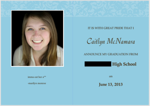 how do my graduation announcements look so far guys