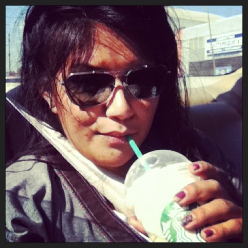 Happy Ridah with Happy Hour Starbux! #cruising #riding #LA #caliheat #starbucks #chaifrapp #frappuchino #m3! #uniqueness