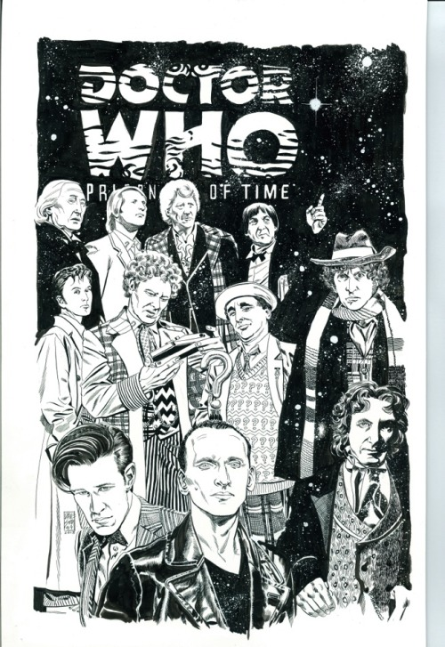ryallsfiles:  Doctor Who: Prisoners of Time #12 cover by Dave Sim. All eleven Doctors.