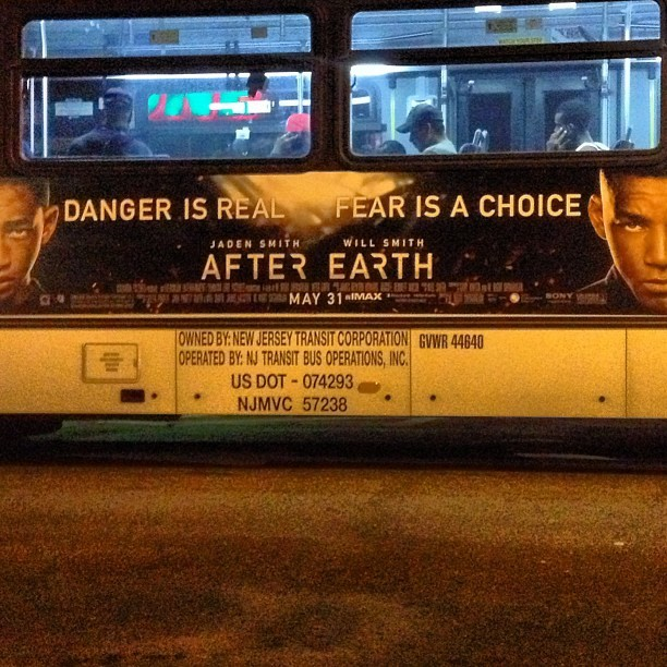 DANGER IS REAL…. FEAR IS A CHOICE #AfterEarth 😍😍😍