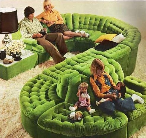 effectively ignore each other with a giant snake couch!