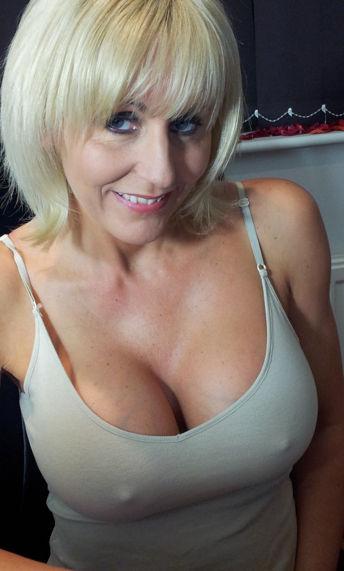 Big tit blonde milf nipples