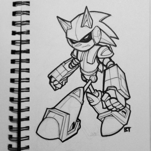 #mechasonic #sonicthehedgehog #drawings