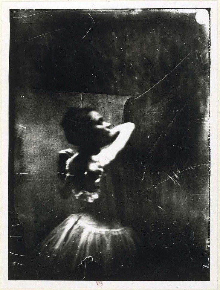 Edgar Degas ~ Dancer adjusting her shoulder strap, 1900