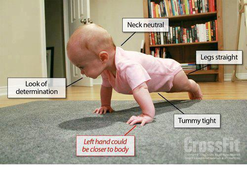 Some weekend motivation: If a baby could do it, so can we! Lol