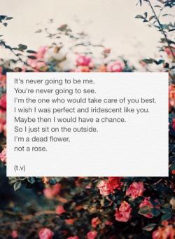 love beauty girl tumblr sad flower roses poem