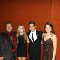 Frank, Lindsey, and Marilyn with one of our stars of the night Andrew Salgado #autismspeaksCHI #EWTS #oscars