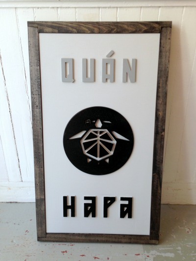 A fancy new sign for QUAN HAPA [OTR]. Coming to a Vine Street near you.
